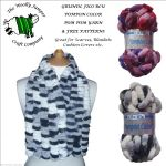 Grundl Filo Blu Pompon Color Pom Pom Knitting Yarn Free Patterns Scarves Blankets