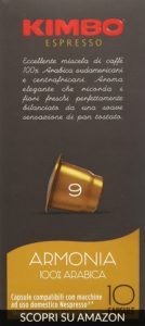 Kimbo qualità Arabica (Armonia) - Per i palati più esigenti! - Migliori capsule compatibili Nespresso