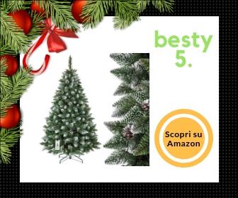 Fairy Trees, albero di Natale innevato con pigne naturali, da 180 cm
