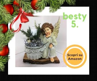 La favola incantata®, centrotavola natalizio a forma di angelo con candela