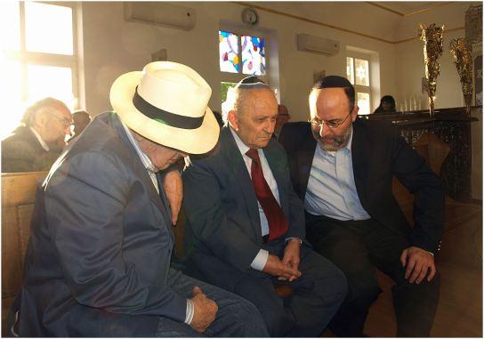 Branko Lustig, Slavko Goldstein i rabin Kotel Dadon