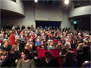 """Dvorana """"Blagoje Bersa"""" nove Muzičke akademije bila je ispunjena do posljednjeg mjesta."""