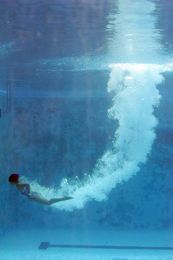 diving into pool after death