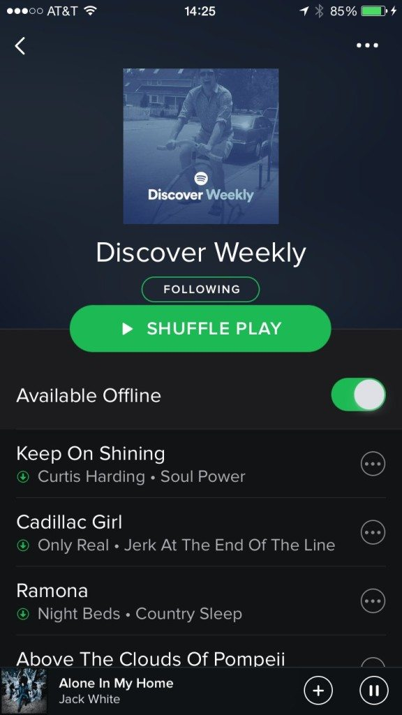 p6 discover weekly