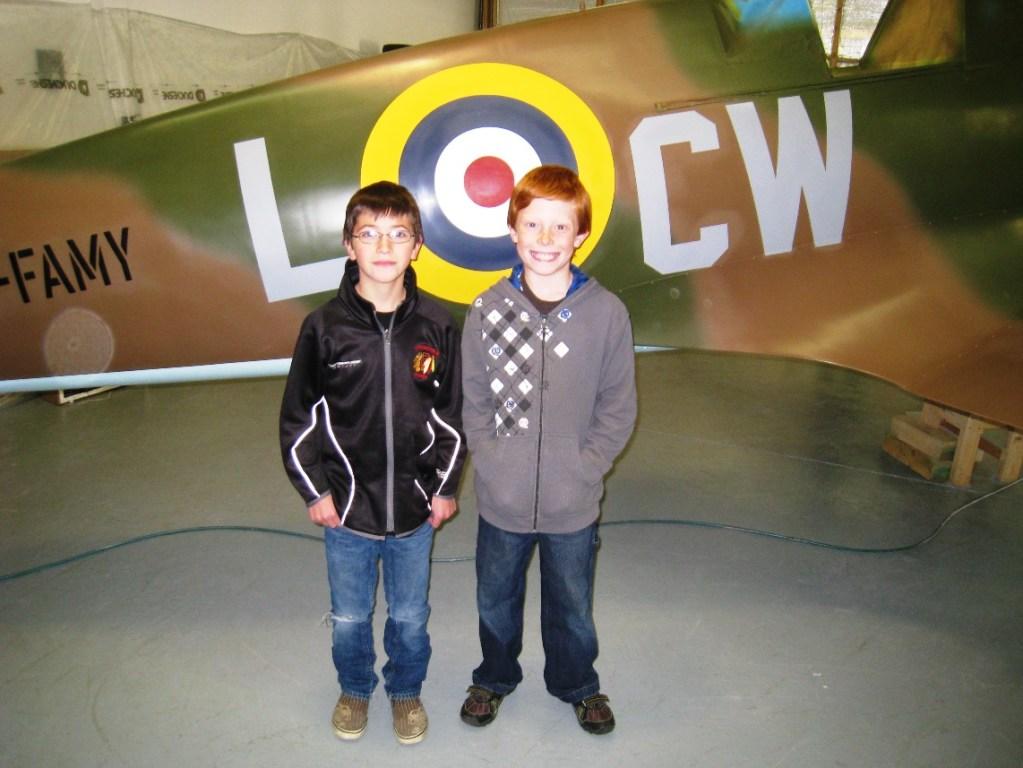 Spitfire replica airplane