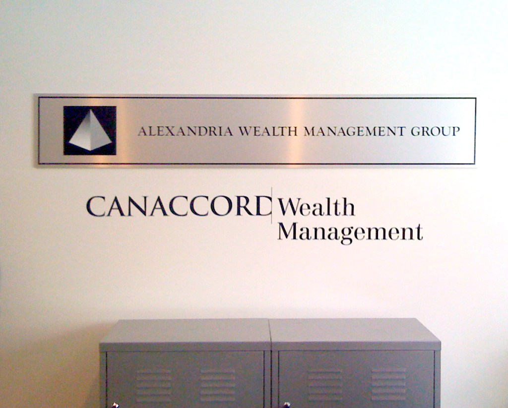 CannAccord Wealth Management wall vinyl