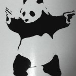 Panda with guns - Banksy