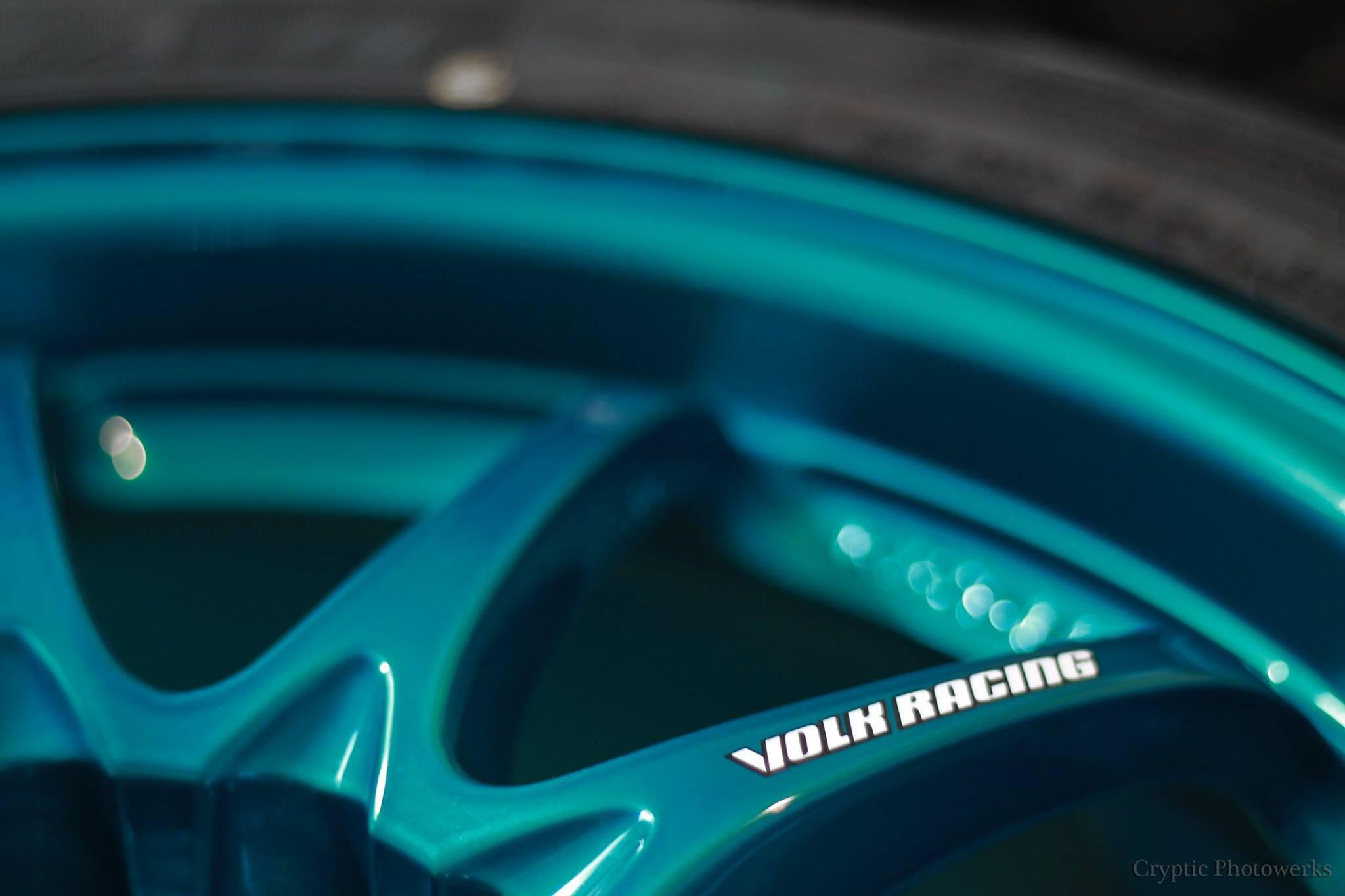 volk racing wheel stickers