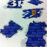 Goalie mask stickers