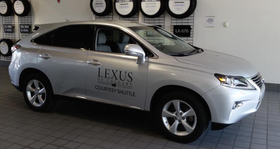 Lexus Of Calgary Shuttle Decal Work BetaCuts Custom Vinyl Design - Lexus custom vinyl decals for car
