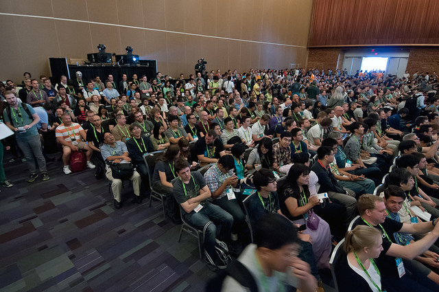 Siggraph crowd shot
