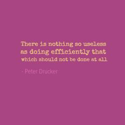 Peter Drucker on Facebook