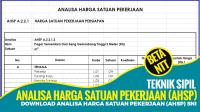 Download Analisa Harga Satuan Pekerjaan (AHSP) SNI Format Excel