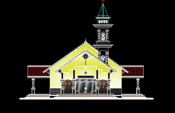 Download Desain Gereja Kristen Dwg AutoCAD (Lengkap)