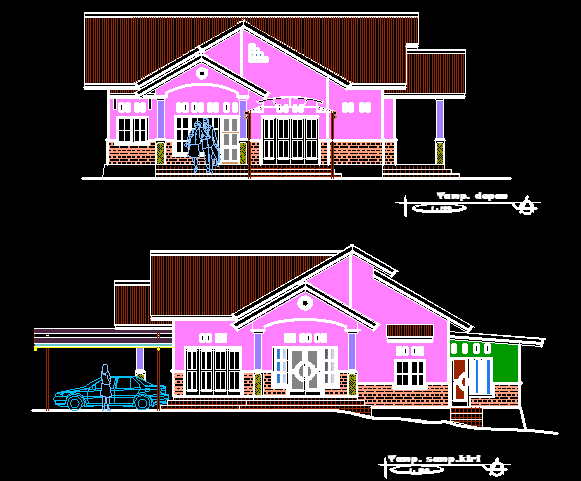 Gambar Rumah Type 200 m File DWG AutoCAD