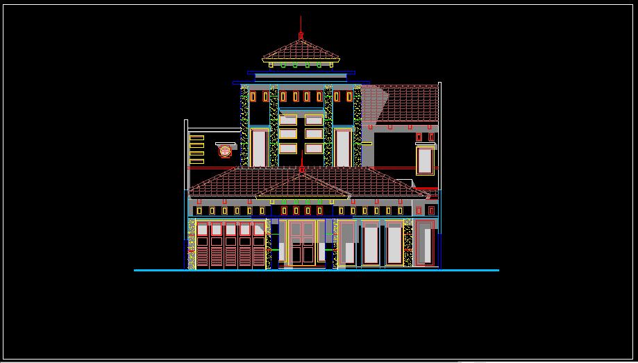 Download Gambar Rumah Ukuran 23x13m Bestek Lengkap DWG AutoCAD