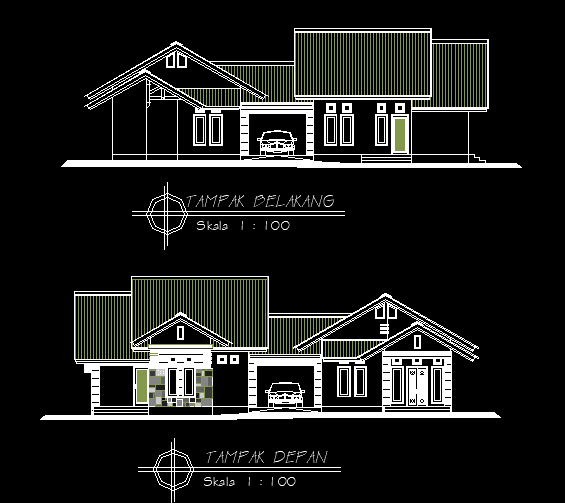 Rumah 18,6×10,5m Bestek Lengkap DWG AutoCAD