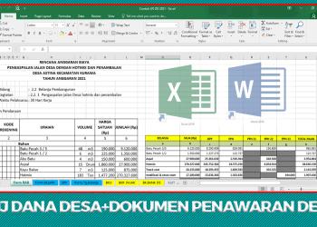 Download Dokumen LPJJ Dana Desa+Dokumen Penawaran Barang Jasa Desa