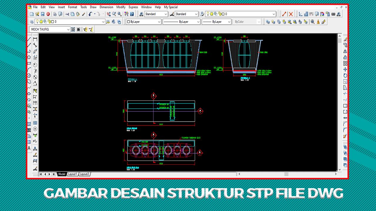 Gambar Desain Struktur STP File Dwg