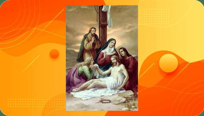 Perhentian 13,Yesus diturunkan dari Salib