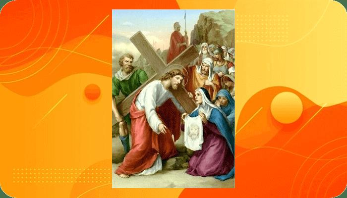 Perhentian 6, Wajah Yesus diusap oleh Veronika