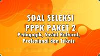 Download Soal Seleksi PPPK Paket 2 Pedagogik, Sosial Kultural, Profesional dan Teknis