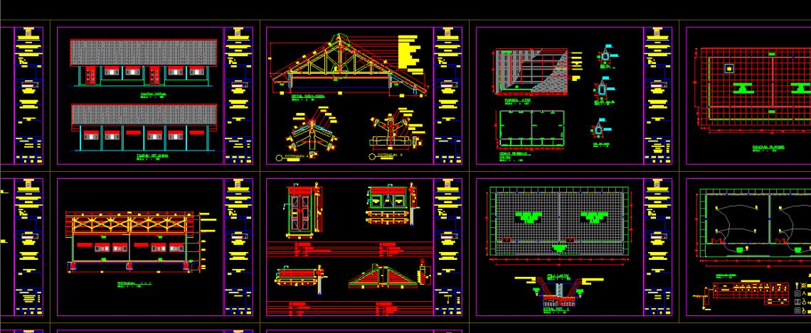 Download Gambar Bangunan SMP + Bestek Lengkap DWG AutoCAD