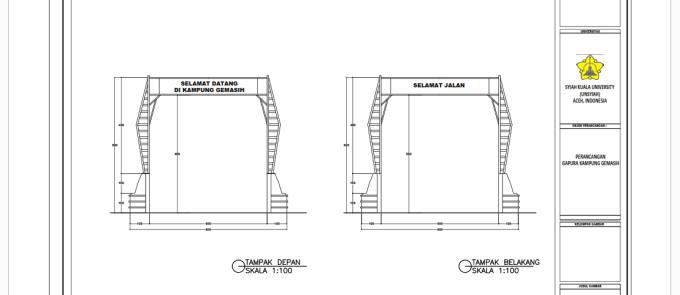 Download Gambar Desain GAPURA DESA + RAB