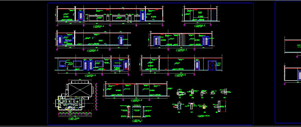 Download Gambar Desain Rencana Pabrik Lengkap dengan BESTEK DWG AUTOCAD