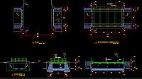 Download Gambar Kerja Jembatan Bentang 7x3m DWG AutoCAD