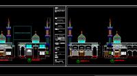 Download Gambar Masjid Bestek Lengkap DWG AutoCAD