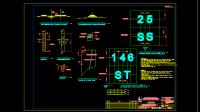 Gambar Patok Hektometer dan Papan Eksploitasi Bendungan DWG AutoCAD