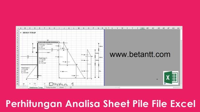 Download Perhitungan Analisa Sheet Pile File Excel