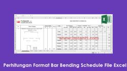 Download Perhitungan Format Bar Bending Schedule File Excel