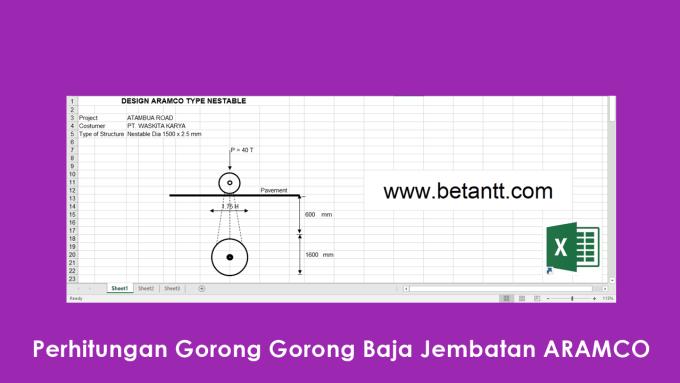 Download Perhitungan Gorong Gorong Baja Jembatan ARAMCO File Excel