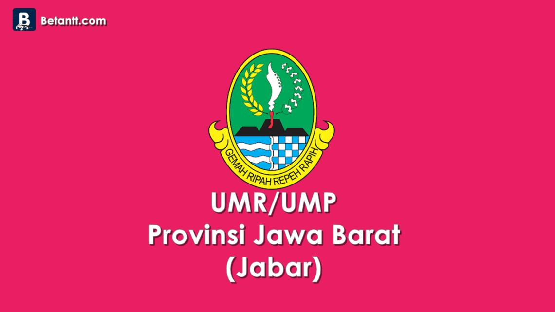 Data UMP/UMR Kabupaten/Kota di Provinsi Jabar 2021