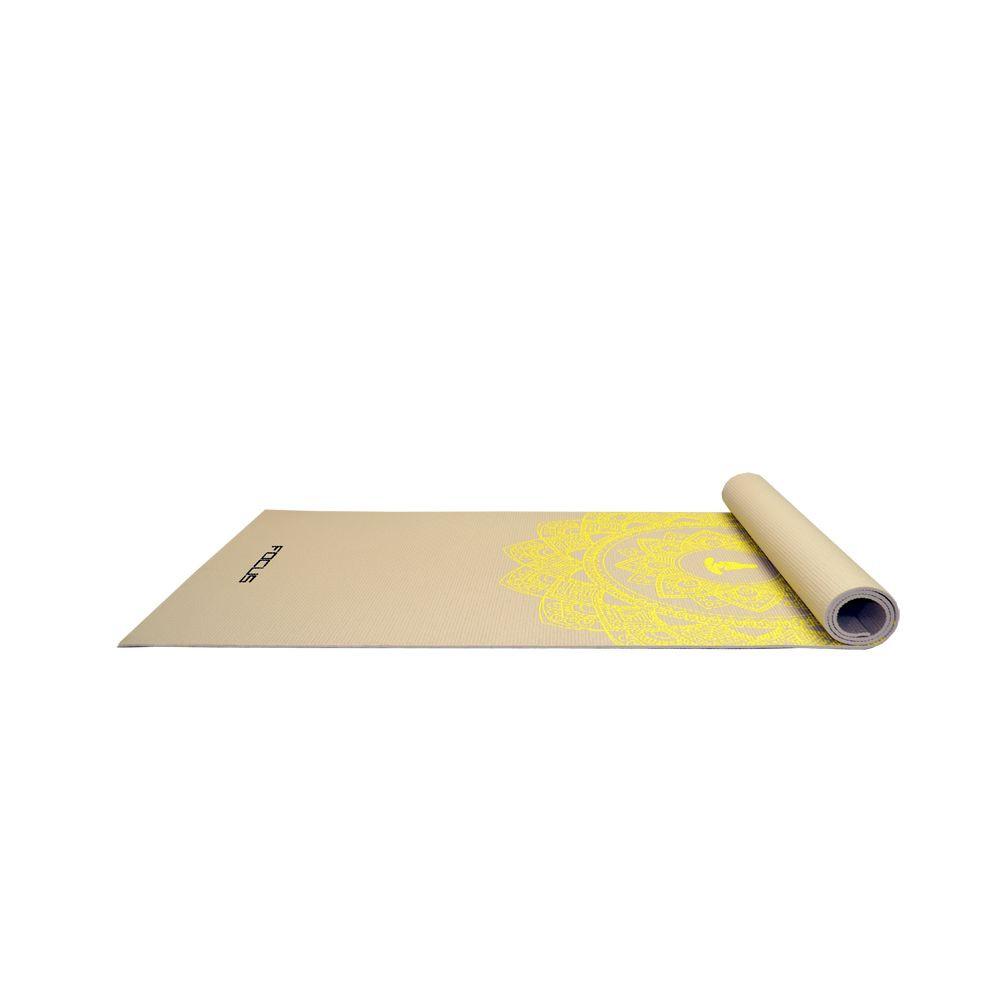 Yogamat - Focus Fitness - Grijs met Print