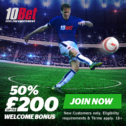 10Bet £200 Welcome Bonus