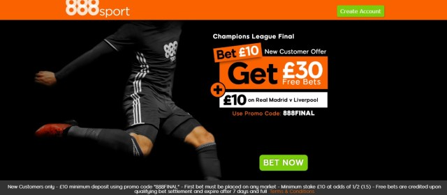 888Sport Champions League New Customers Offer