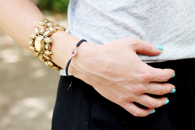 j.crew bracelets, obsessive compulsive cosmetics, OCC pool boy, vegan nail polish