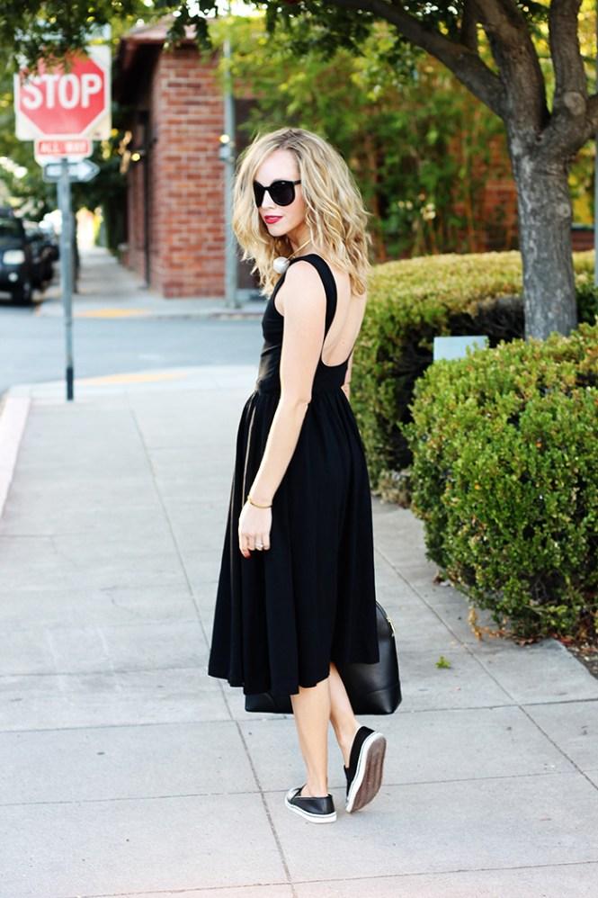 dress and flats