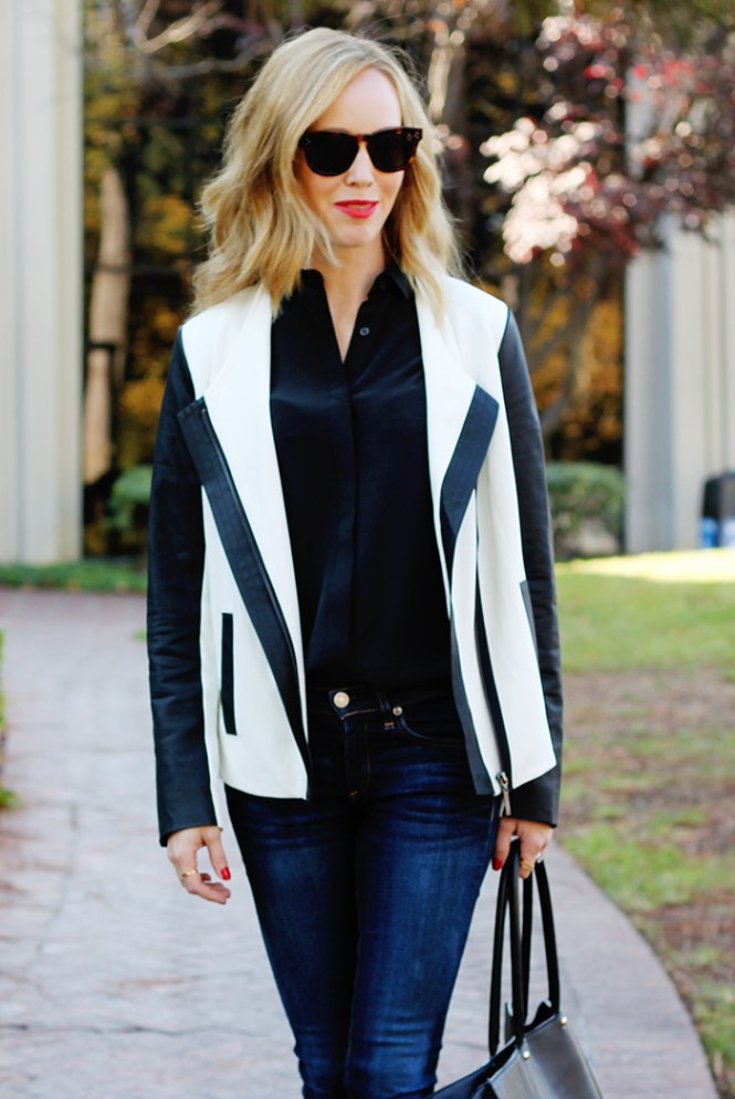 contrast sleeve blazer, mixed media blazer, stitch fix clothes, work clothes, office attire for women, office outfit ideas