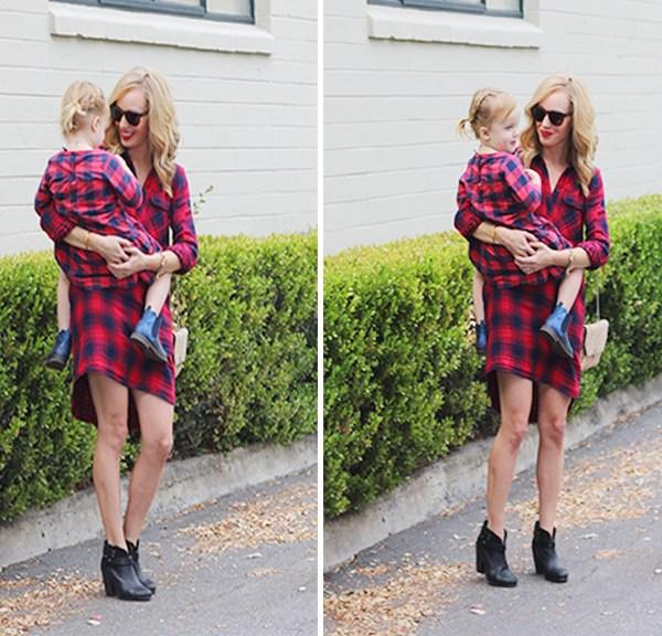 mom style blog, fashion blog moms, mom fashion bloggers, plaid dresses, madewell dress, madewell plaid dress, plaid dress toddler, GAP toddler dresses