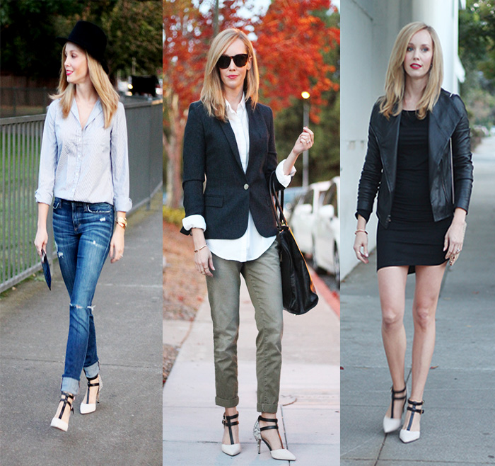 3 looks with strappy pumps, DSW shoes, white shoes in Fall, Snakeskin shoes,  DSW shoes, Aldo Abireng Pump, Fall looks