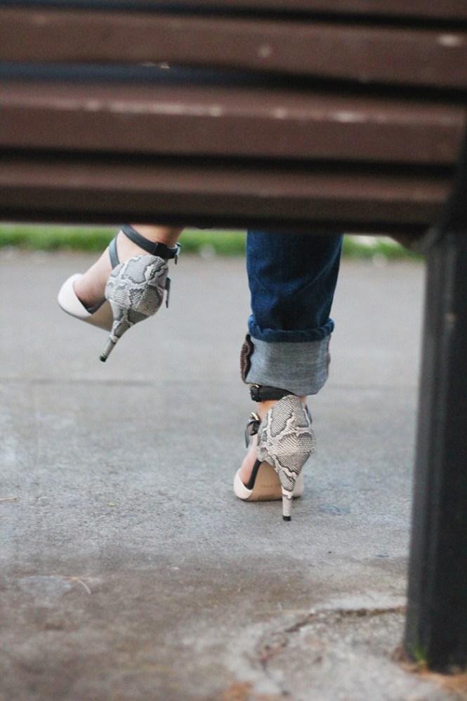 DSW shoes, Aldo shoes, snakeskin pumps