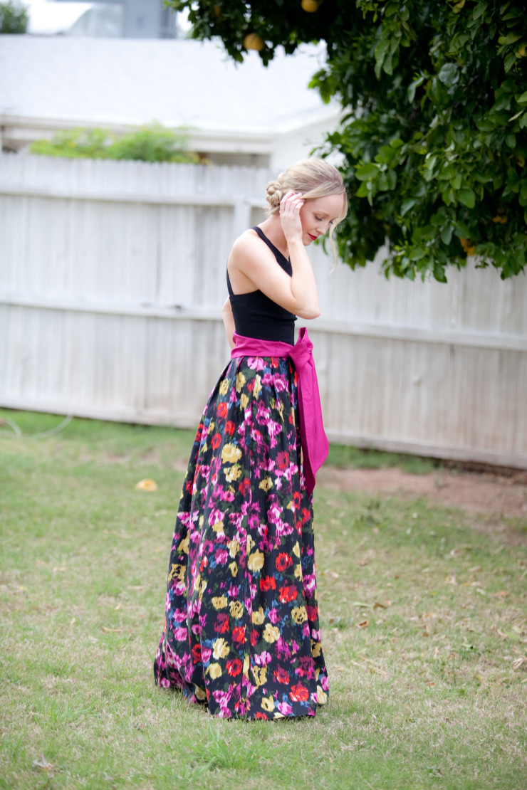 Moody floral dress