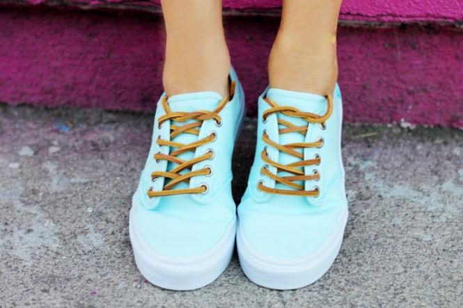 turquoise vans