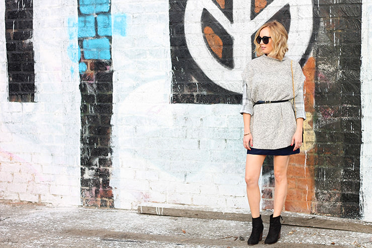 belted poncho - fall outfits