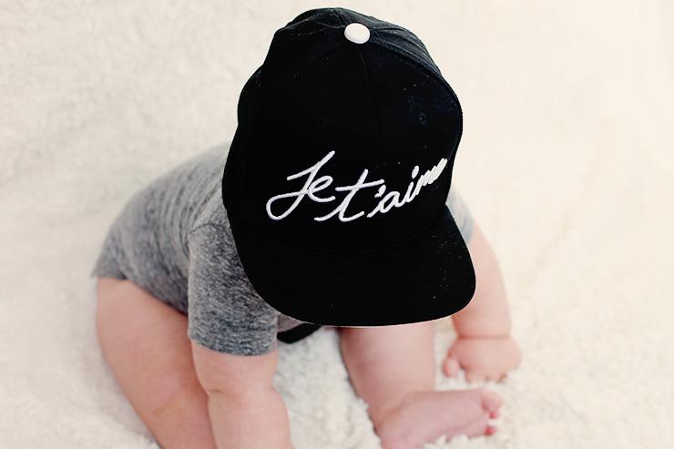 black baby baseball cap