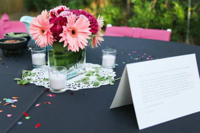 colorful carnation centerpieces